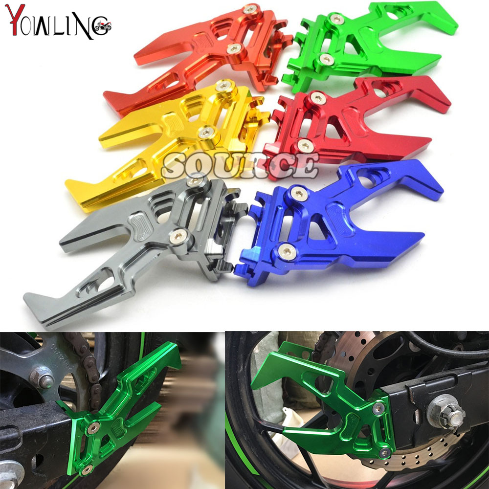 2 pieces Brand New CNC Aluminum Motorcycle Chain adjuster Tensioner autobike Chain regulator For KAWASAKI ninja300 ninja 300 right 2 8t 2 7t v6 cylinder 1 3 camshaft adjuster timing chain tensioner for vw passat b5 superb a4 a6 a8 078109088c