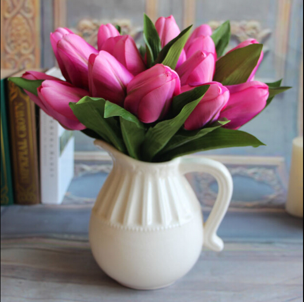 1bouquet 9 Buds Holland Tulip Artificial Flower Plants Dining Table Flowers  Wedding Home Decoration Part 55