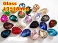 128 unids 13*18mm Pointback Gota Pera de Cristal Fancy Stone Lágrima/Gota Cristales De Vidrio Para La Fabricación de Joyas, Accesorios de BRICOLAJE