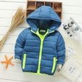 2-8Years New Fashion 2017 Kids Baby Girl Boy Clothes Winter Jacket Solid Down Parkas Zipper Hooded Children Outerwear