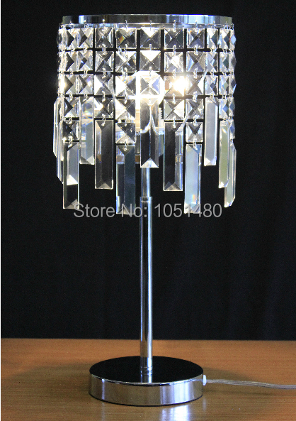 Holiday Sales Chrome Finish Table Lamp Modern Crystal Lighting For Bedroom In Led Table Lamps