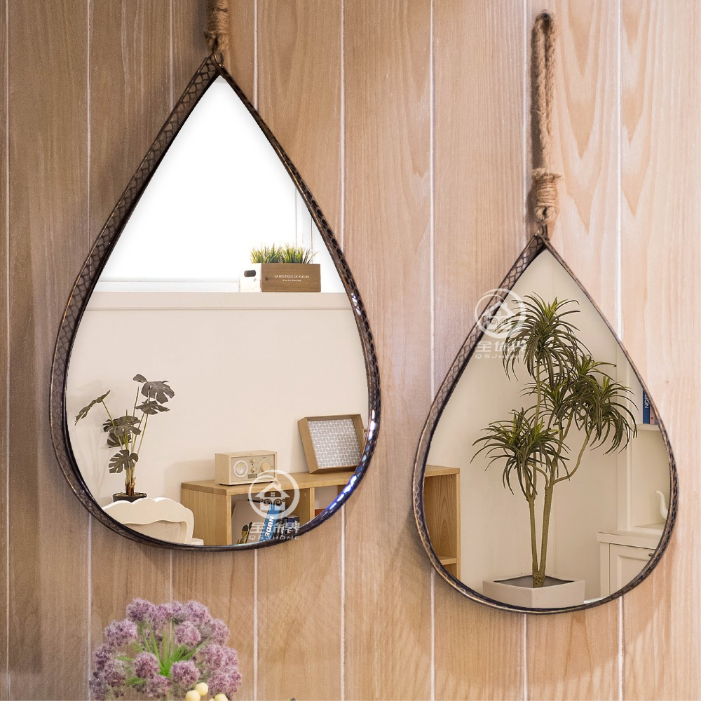 Metal framed square modern wall mirror glass console ...