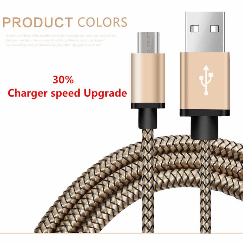 2.4A Mikro USB kabel Cepat chargingsuntaiho Nylon Jalinan kabel USB kabel kabel Data charger ponsel untuk Samsung Android Phone