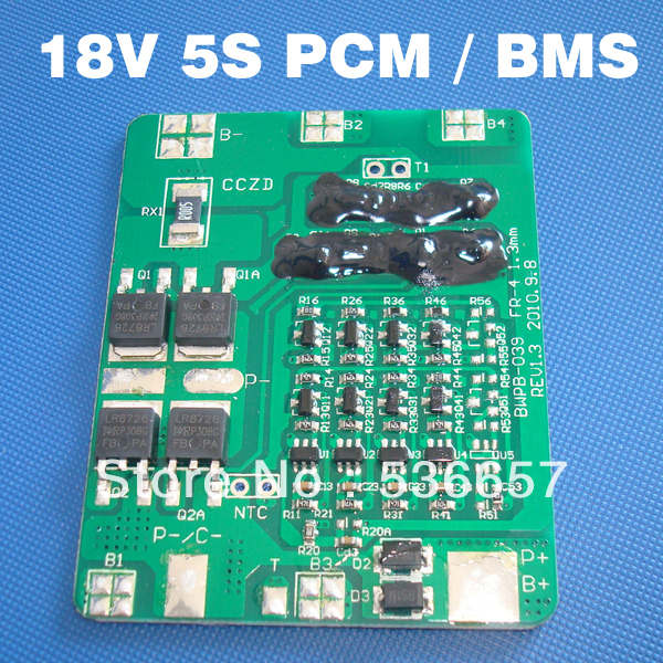 lithium ion battery 18 V BMS 5S PCM 18.5 V li-ion battery management system