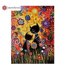 Бисер Snowlover, Рукоделие, сделай сам, бисер, вышивка крестиком, вышивка, стежок, точная печать, картина, портрет, узор, любовь, котенок, 09