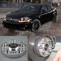 4pcs Billet 5 Lug 12*1.5 Studs Wheel Spacers Adapters For Dodge Avenger 2007-2013