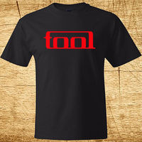 New TOOL Metal Rock Band Logo Men's Black T-Shirt Size S To 2XL Printed T Shirt Men Cotton T-Shirt New Style Top Tees
