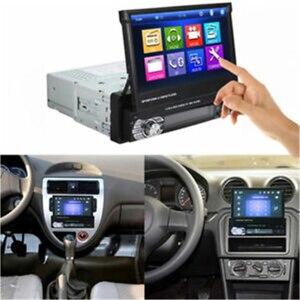 "Image 5 - Podofo 1din Car Radio GPS Navigation 7"" HD Retractable Screen MP5 Player Bluetooth Stereo Mirror Link Autoradio Rear View Camera"