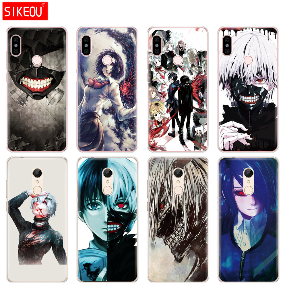 Silicone  Cover phone  Case for Xiaomi redmi 5 4 1 1s 2 3 3s pro PLUS redmi note 4 4X 4A 5A Japanese anime Tokyo Ghoul