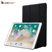 Jisoncase Cubierta Elegante para el ipad Pro 10.5 2017 Caso de Cuero de LA PU + PC 3 Plegable Tapa Elegante de la Caja de la Tableta para el Nuevo ipad Pro 10.5 cubierta