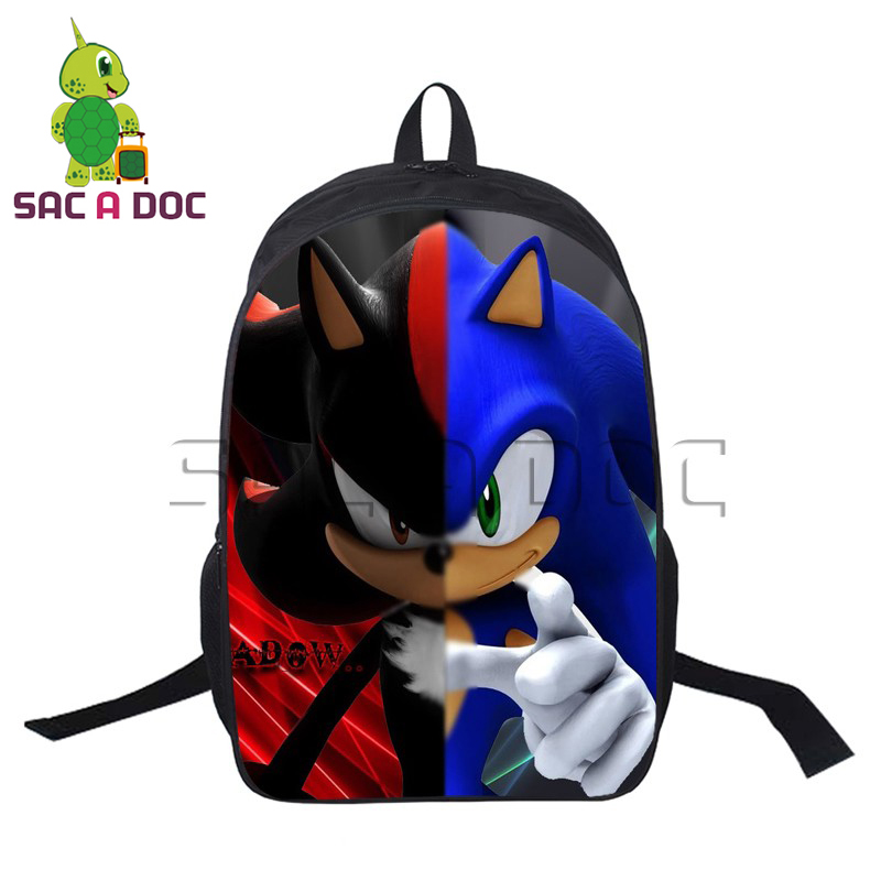 Anime Sonic Super Mario Backpacks For Teenage Girls Boys School Bags Children School Backpacks Women Men Travel Bag