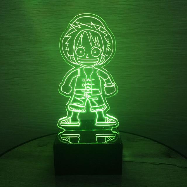 Een Stuk Action Figure Luffy 3D Led Tafel Nachtlampje kleurrijke ...