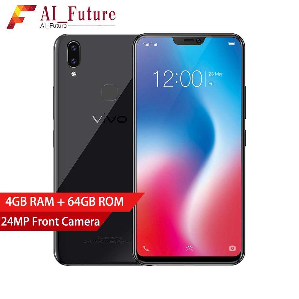"Global Version VIVO V9 Mobile phone Snapdragon 626 Octa-core 4GB RAM 64GB ROM Full Scree 6.3"" Dual Rear Camera 4G LTE CellPhone"