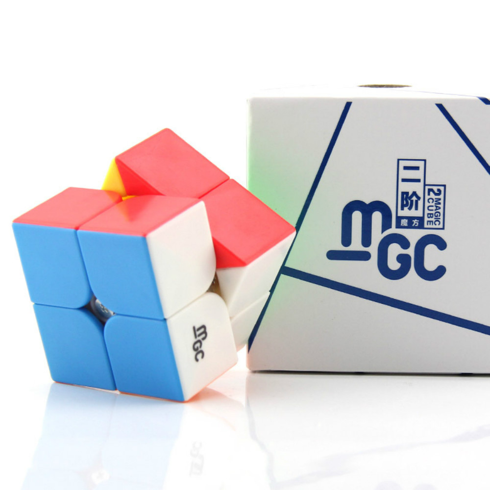 YJ Yongjun MGC 2x2x2 Magnetic Magic Cube Red Stickerless YJ MGC 2x2 Speed Cube for Brain Training Toys For Children Kids
