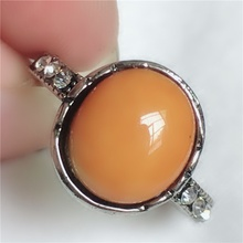 Anillo de resina ovalado hermoso con incrustaciones de anillos de camafeo naranja para mujeres Vintage lindo redondo boda joyería fina tamaño 6-10 h3T055