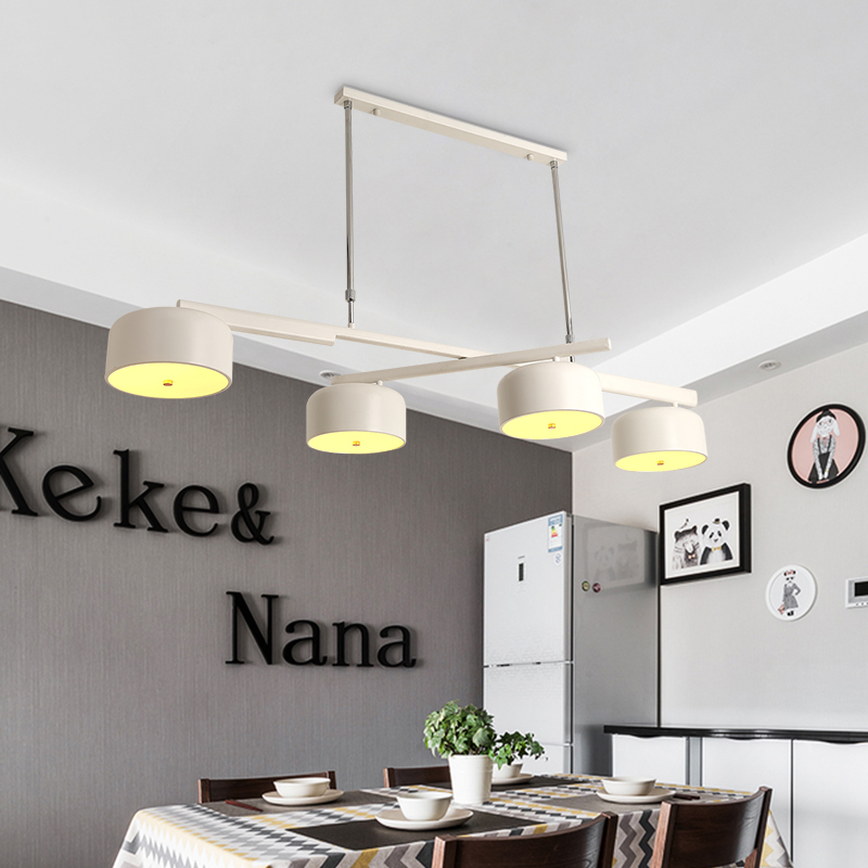 4 head of the nordic creative bar counter dining room lights 4 head of the nordic creative bar counter dining room lights chandeliers after the modern led revolving restaurant light in chandeliers from lights aloadofball Image collections