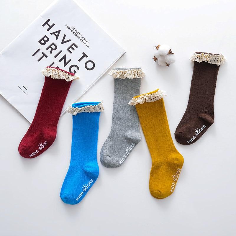 Новые детские носки гольфы с большим бантом для маленьких девочек, мягкие хлопковые кружевные детские носки kniekousen meisje, Прямая поставка#30