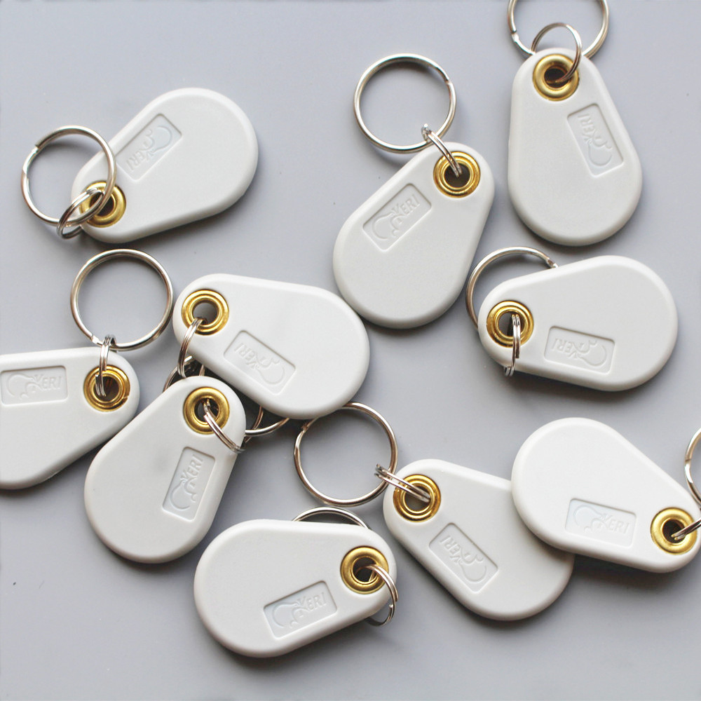 125Khz T5577 RFID  EM Readable &  Writable Access Control Card Tags Keyfob Keychain 10pcs/lot