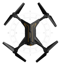 0.3W Foldable Quadcopter With Camera WiFi FPV Live Helicopter Hover Drone Com Camera Black Gold Flying Racing Drone