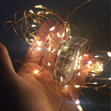 SPLEVISI 10M 33ft 100 led 3AA battery powered  led copper wire string lights for christmas festival wedding party decoration
