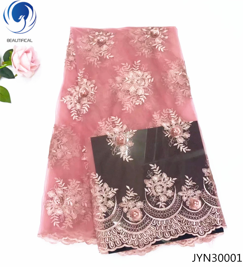 BEAUTIFICAL wedding embroidery lace fabric net fabrics sample lace aliexpress lace fabric pretty flowers beads for