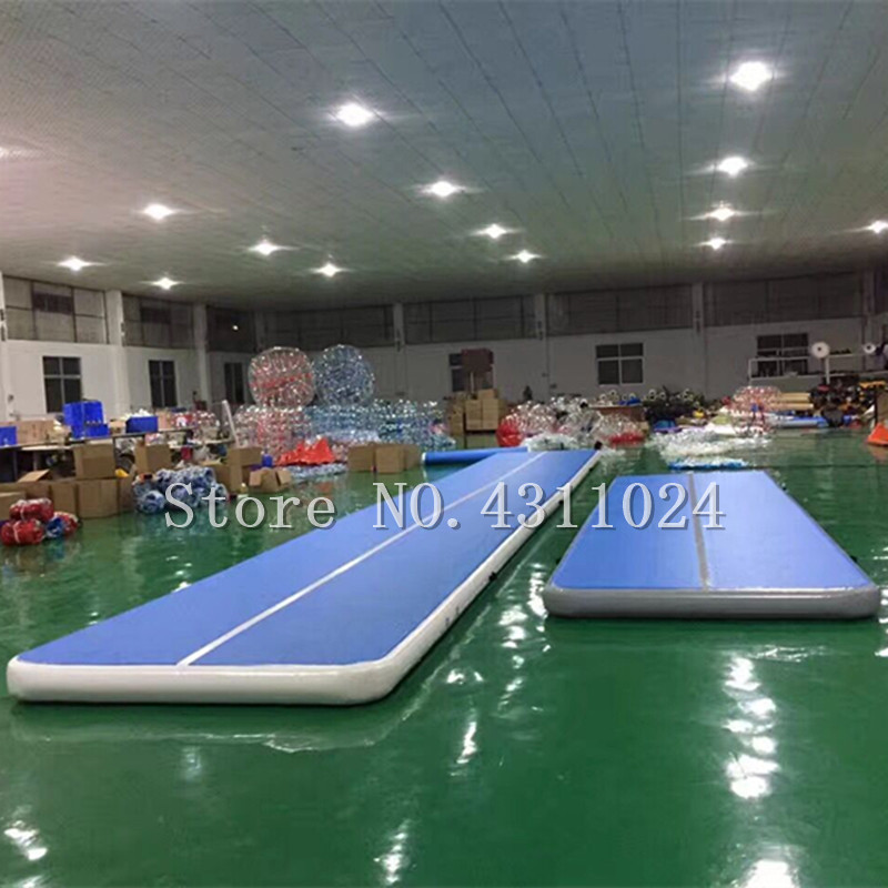 Free Shipping 10x2x0.2m Air Track Mat for Gymnastics Airtrack Tumbling Air Mats Inclined Air Beam Yoga Mat with a 1200w Pump