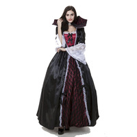 Gothic Marie Antoinette Ball Gown Renaissance Wench Princess Dresses Vampire Costume Theatre Halloween Game Cosplay Clothing