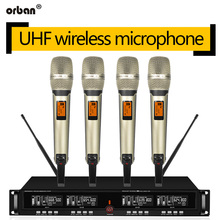 UHF wireless microphone one for four collar clip handheld professional stage performance conference