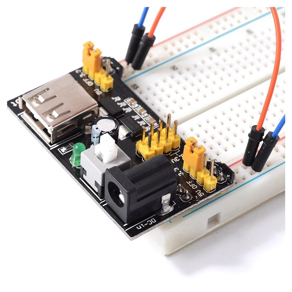 Breadbo 65 Stücke Jump Kabel Drähte Für Arduino Board Mb-102 830 Punkt Pwb-breadboard Netzteil Modul 3,3 V 5 V Netzteil