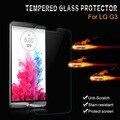 G3 стекла протектор экрана закаленное стекло ясно флим для LG G3 D858 D859 D850 D855 охранник передняя кристалл протектор Ecran