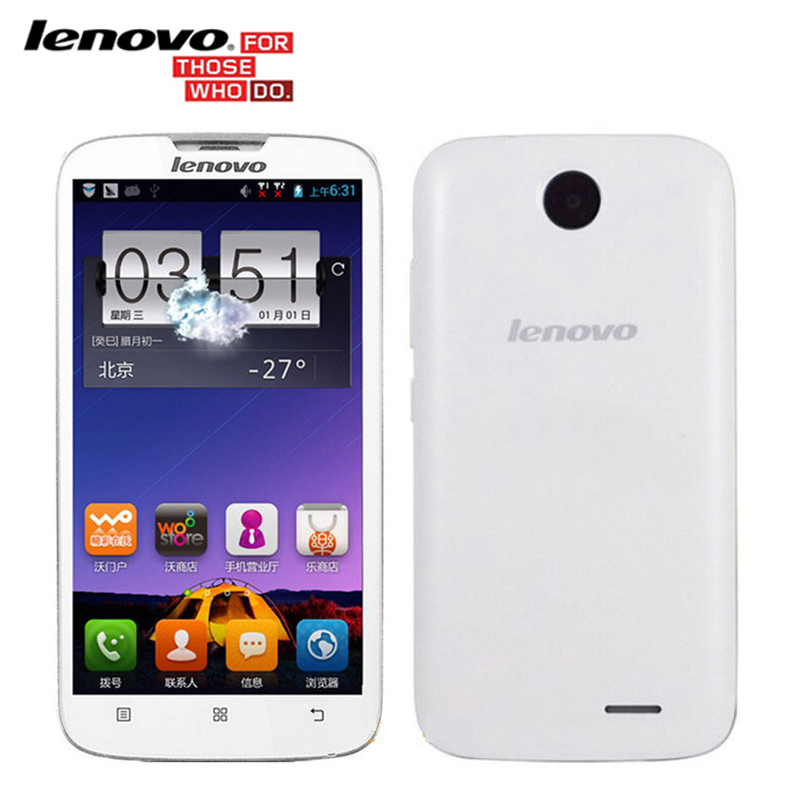 Original Lenovo A560 5.0 Inch IPS Quad Core 512MB RAM 4GB ROM Android Smartphones 3G GPS Bluetooth WCDMA Multi-Languages