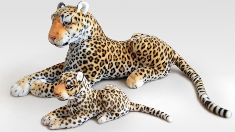 2 pcs 사랑스러운 동물 플러시 장난감 시뮬레이션 표범 박제 장난감 선물 약 60 cm & 40 cm 0530-에서스터핑 & 플러쉬 동물부터 완구 & 취미 의  그룹 1