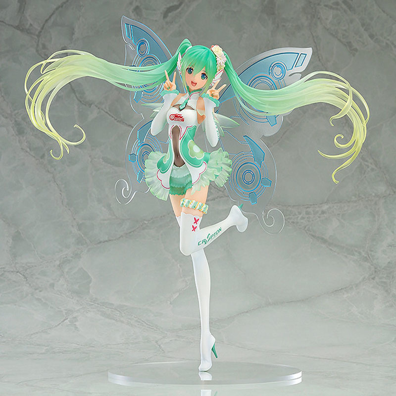 цена Japanese Anime Figures Hatsune Miku Racing Miku 2017 Tony Ver. PVC Action & Figure Collectible Figurines Model Toy New Arrivals