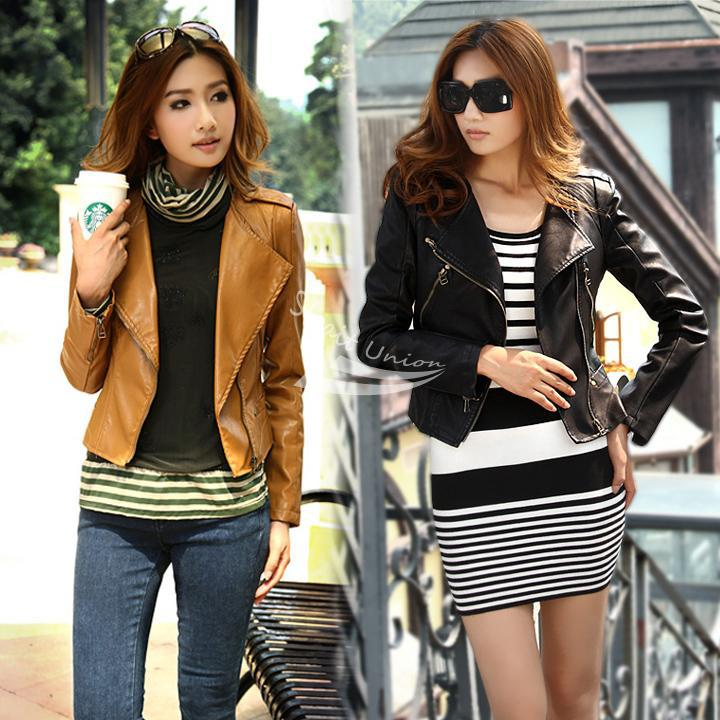 Aliexpress.com : Buy Women's Girls Cool Stylish Zip Up Leather ...