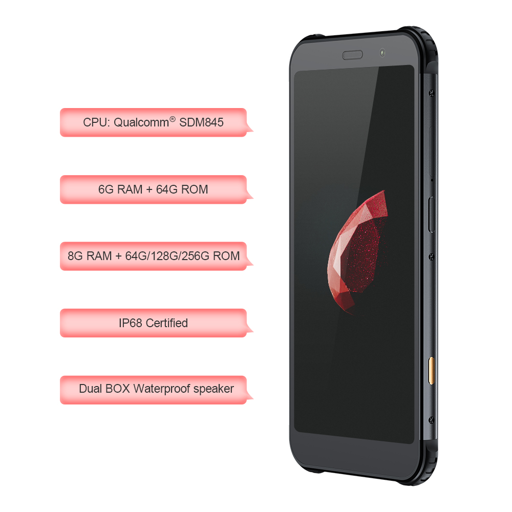 AGM X3 Cobanding 5.99'' 4G Smartphone 8G+128G SDM845 Android 8.1 IP68 Waterproof Mobile Phone Dual BOX Speaker NFC