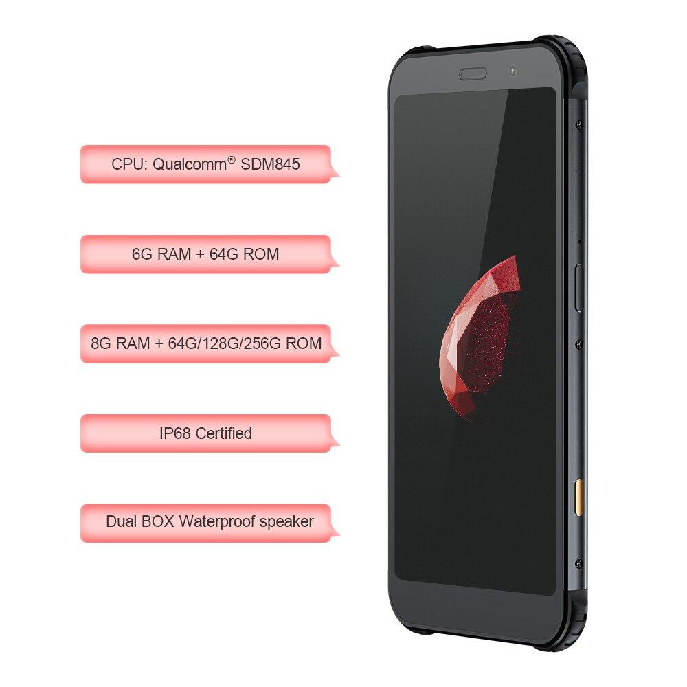AGM X3 cobaguage 5.99 ''4G Smartphone 8G + 128G SDM845 Android 8.1 IP68 étanche téléphone portable double boîtier haut-parleur NFC