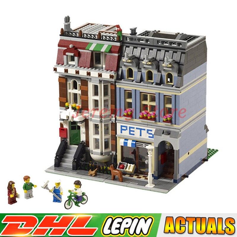 2018 DHL LEPIN 15009 2082PCS City Street Pet Shop Model Building Blocks Funny Educational Brick Toys Compatible 10218