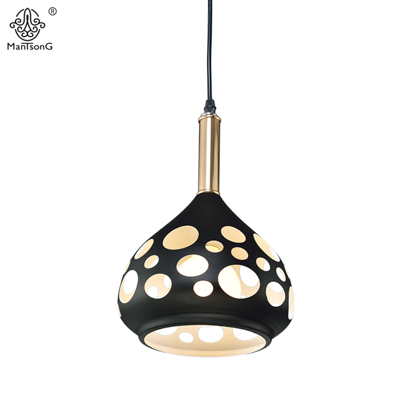 Modern Pendant Lights Lamparas Nordic Luminaire Lighting Kitchen Fixtures Dining Living Room Through-Carved Hollow Pendant Lamps modern simple european style dining room lighting american hollow carved iron bedroom pendant lights