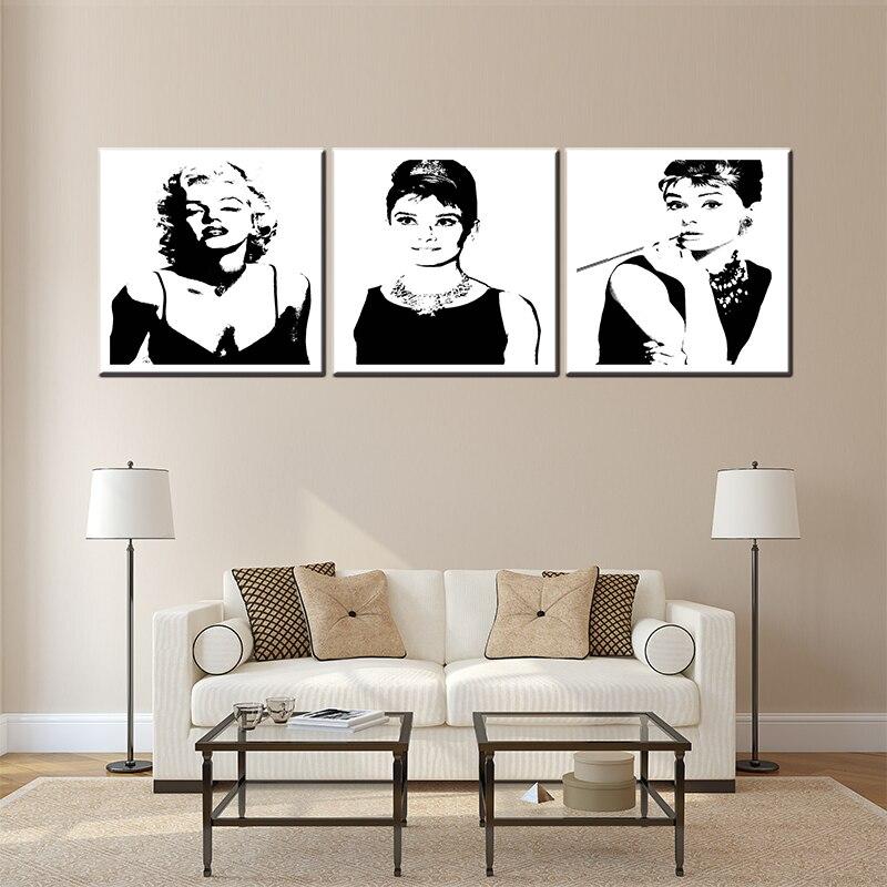 Новое поступление 3 предмета в комплекте Norma Jean Remix знаменитого фильма Звездные цветы для гостиной стены искусства фотографии картина масло...