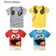 Лидер продаж, новая дизайнерская футболка с наушниками, детские топы с короткими рукавами для мальчиков, футболки, хлопок