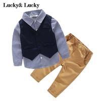 3pcs Set Baby Boys Clothing Set Gentleman Baby Clothes Baby Boys Party Newborn Baby Clothing