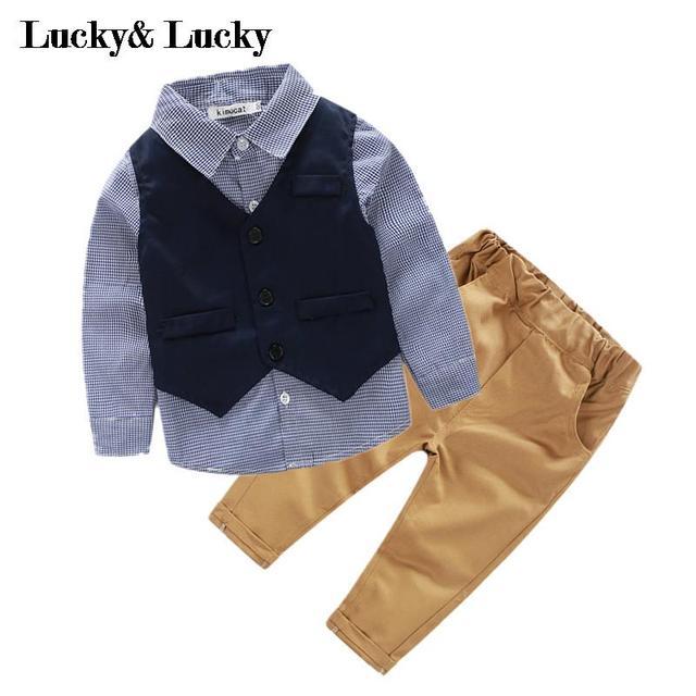 (3pcs/set) baby boys clothing set gentleman baby clothes baby boys party newborn baby clothing boy