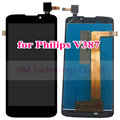 """5.0"""" Black LCD+TP for Philips Xenium V387 LCD Display+Touch Screen Digitizer Assembly Replacement Parts Free Shipping+Tools"""