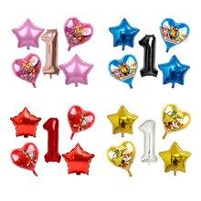 5 шт., шары из фольги с розовым небом, Чейз, лапа, патруль, черное розовое золото, сердце, цифры, декор для дня рождения, гелиевые Globos, игрушки для детского душа