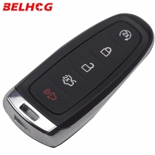 BELHOG 5ps 5 Buttons Remote Car Key Case Cover Fob For Ford Explorer Edge Escape Flex Taurus 2011 2012 2013 2014 2015 Smart