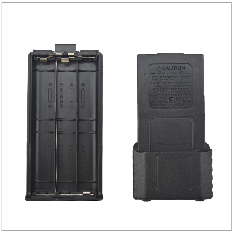 6 X AA Battery Case For Baofeng UV-5R,UV-5RA,UV-5RB,UV-5RC,UV-5RD,UV-5RE,UV-5RE+ Portable Two-way Radio