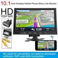 12V 10.1 Inch HD IPS 1024*600 TFT LCD Car Headrest Monitor support HDMI/VGA/AV/Wireless Mobile Phone Mirror Link