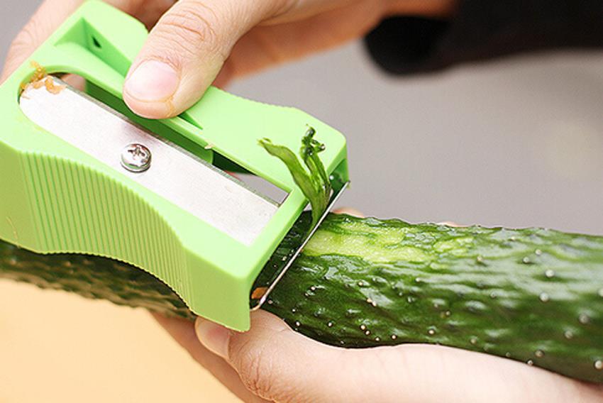 Kitchen Gadgets Helper Sharpener Peeler Vegetable Fruit Curl Slicer