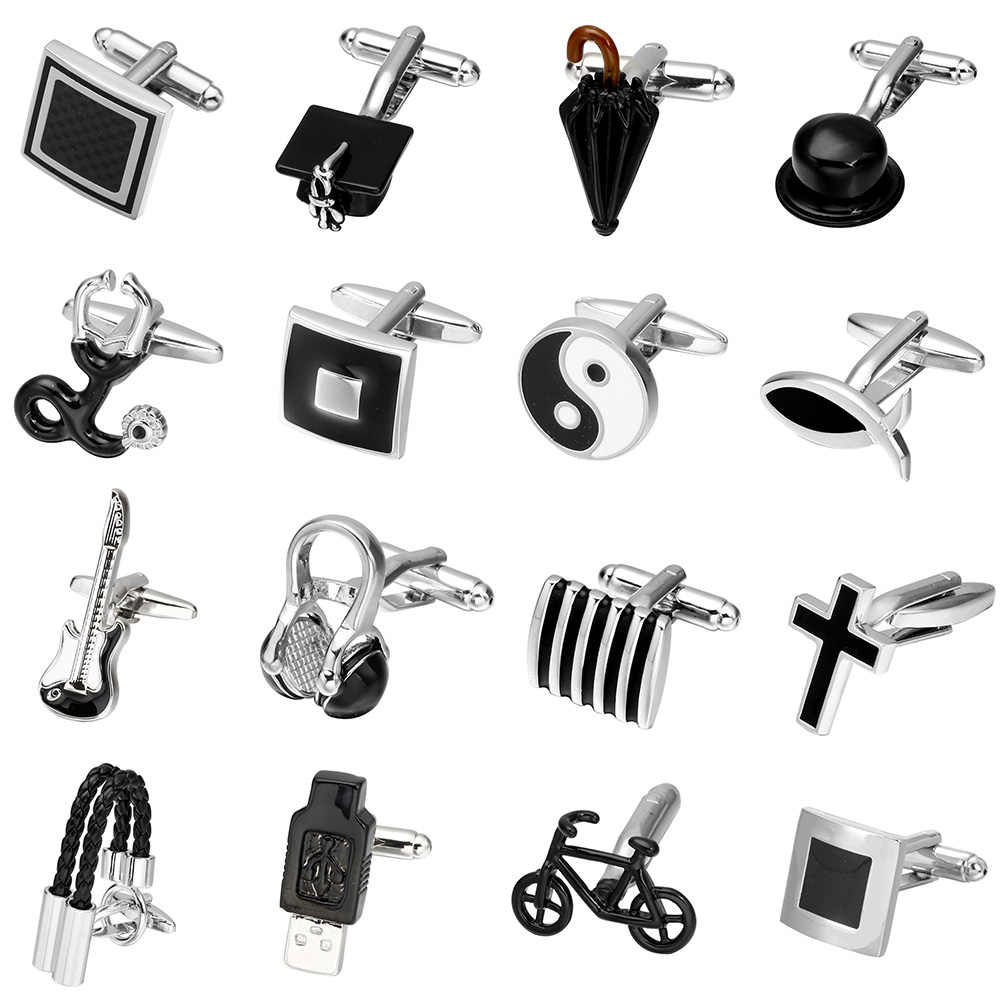 MeMolissa New Arrive Men's Shirt Cufflinks Metal Copper Black Color Cuff Links For Business Wedding Party High-grade Men jewelry
