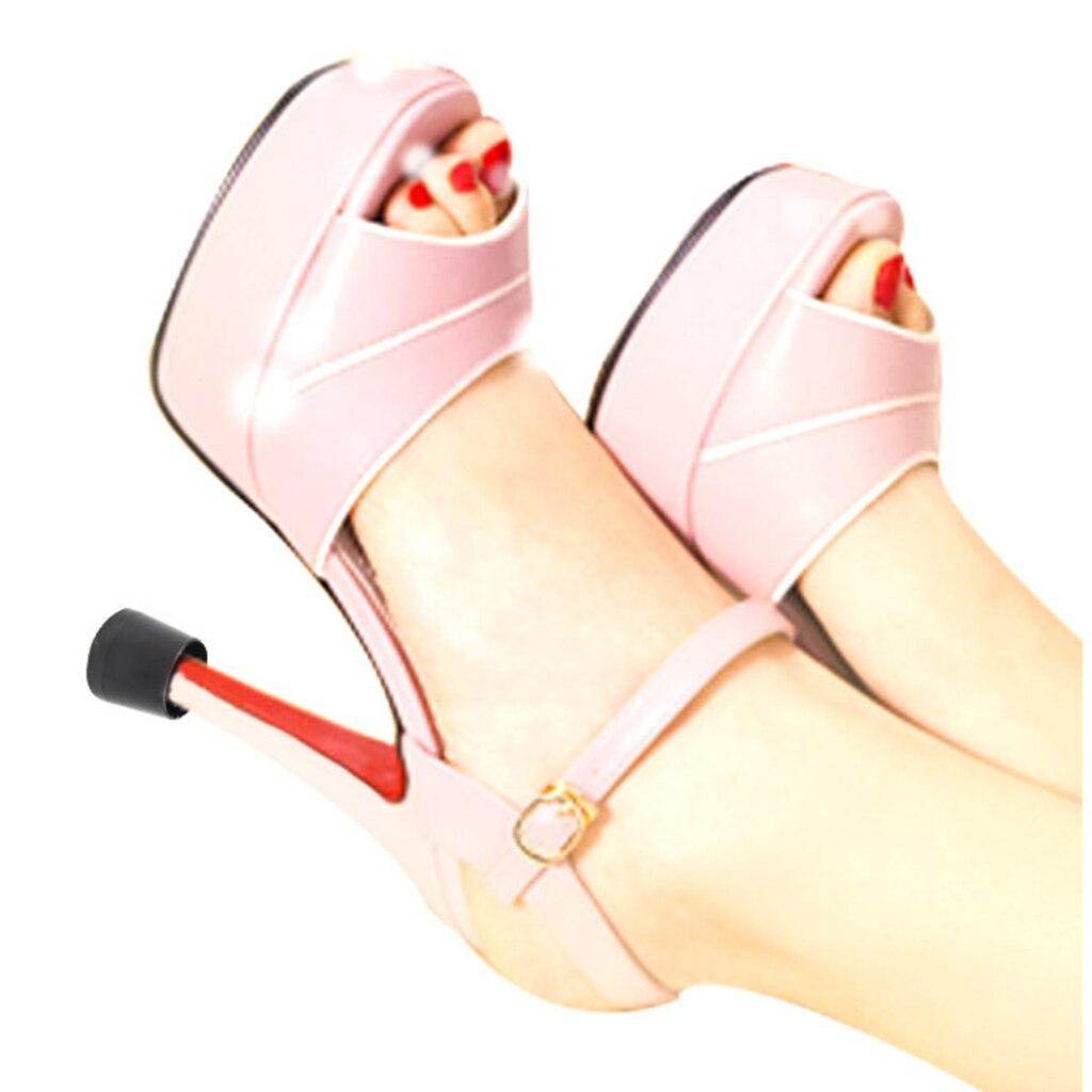 1 Pair Heel Repair Caps Covers High Heel Protector For Womens Shoes